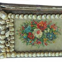 Antique Shell Art Book Box A Gift