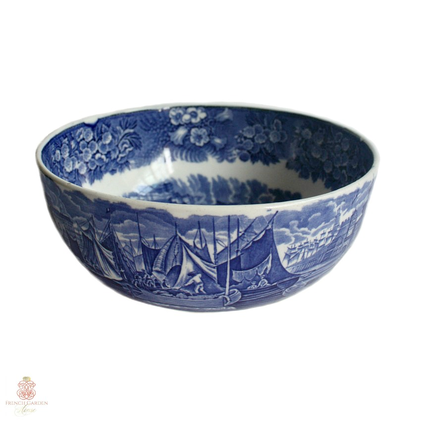 Wedgwood Ferrara Early Blue and White Large Bowl