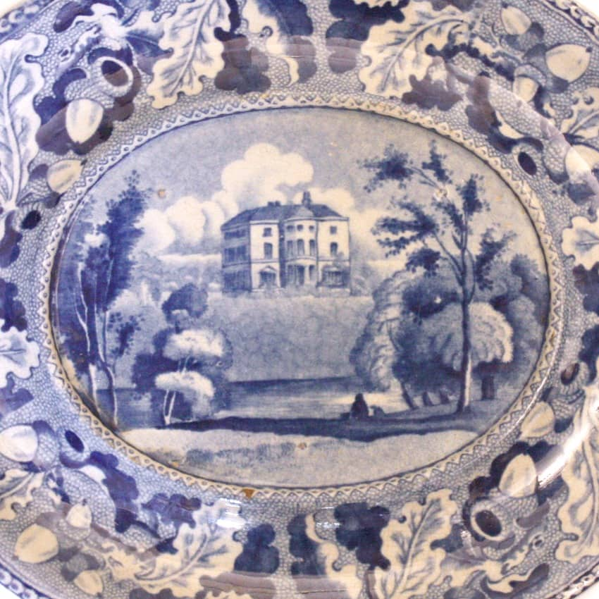 Antique Blue Transfer Small Tray