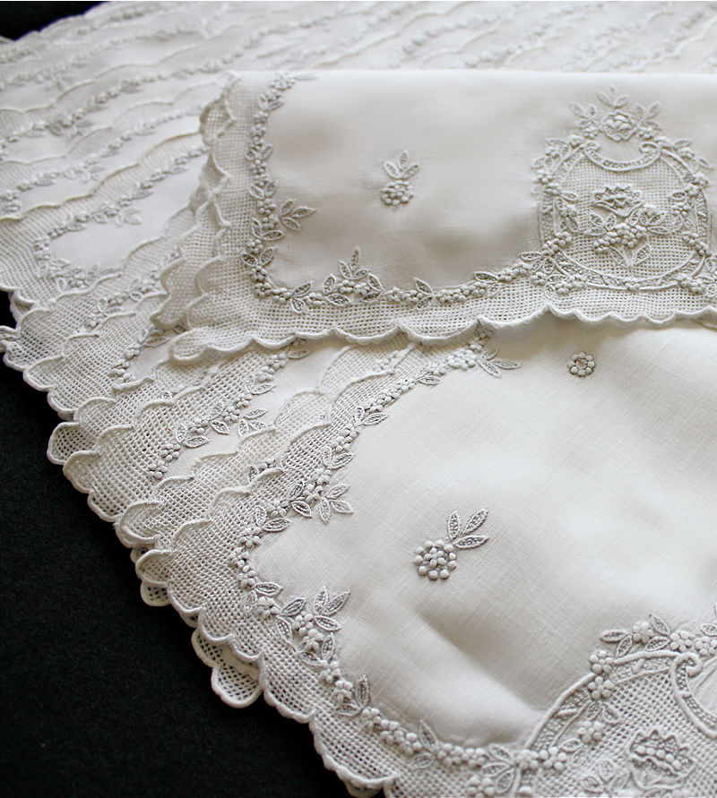 Antique Appenzell Embroidery Placemats Set of 12