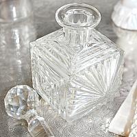 Art Deco Square Cut Perfume Bottle
