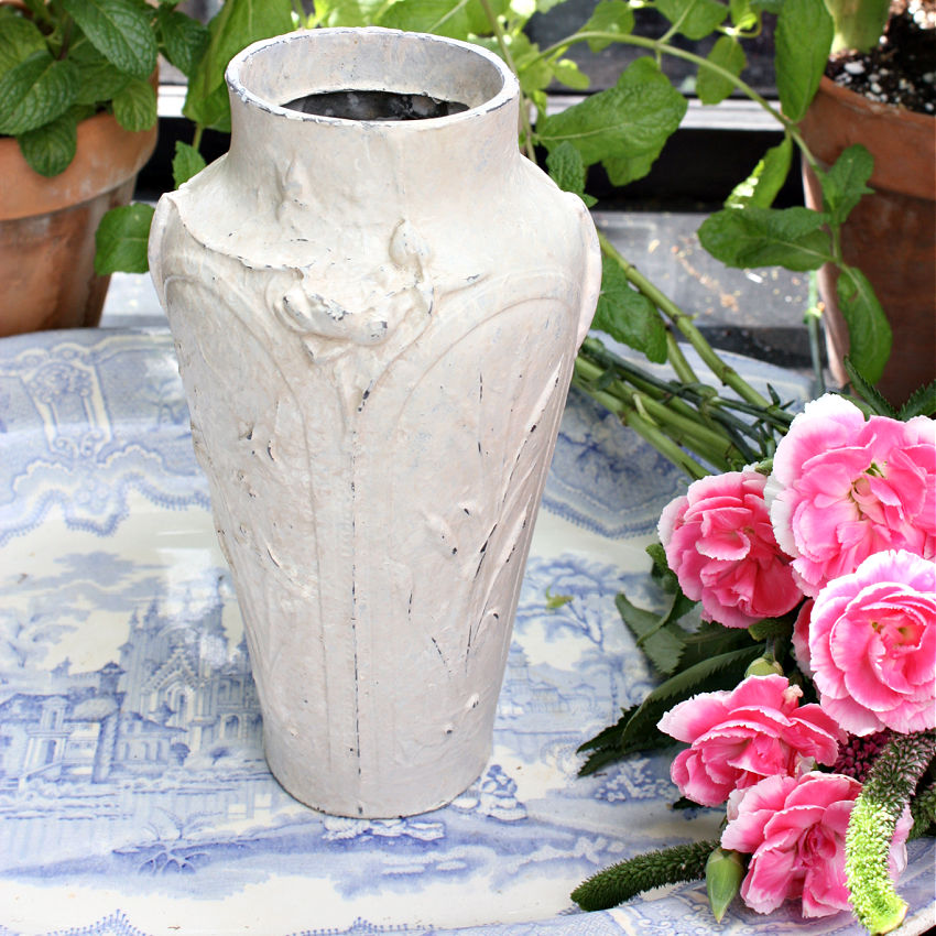 Antique French Cast Iron Art Nouveau Vase