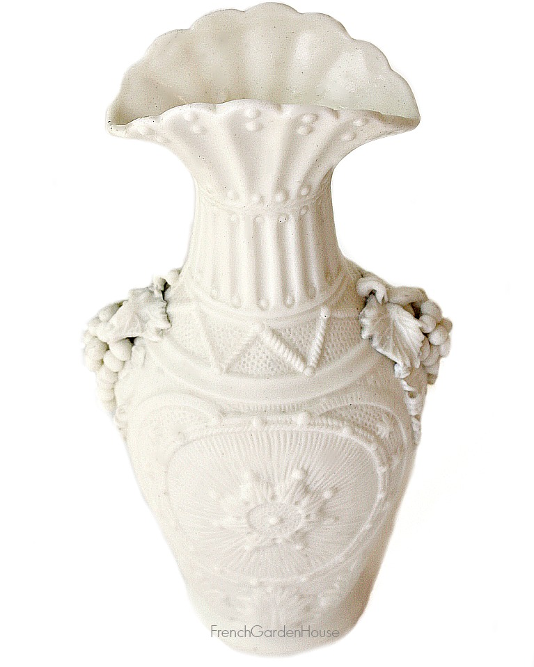 Antique Parian Porcelain Bisque Vase