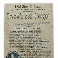 Antique Drexel's Cologne Advertising Card