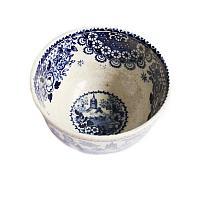 19th Century Blue Transferware Tea Bowl