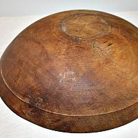 Antique Hand Made Wood Chopping Bowl