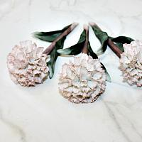Estate Hand Made Porcelain Pink Carnation Set of 3