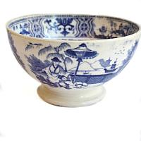 Antique 19th Century Faience Bowl Chinoiserie Regout