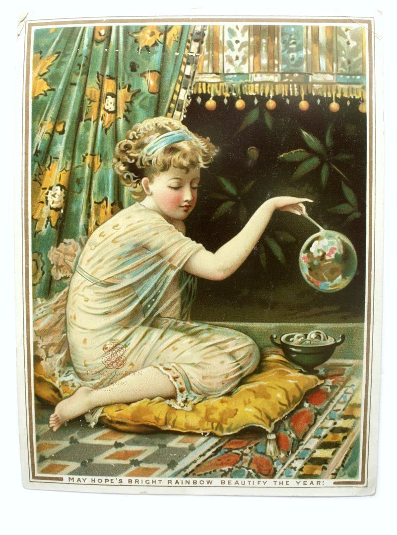 Antique De La Rue Coleman Ephemera Card