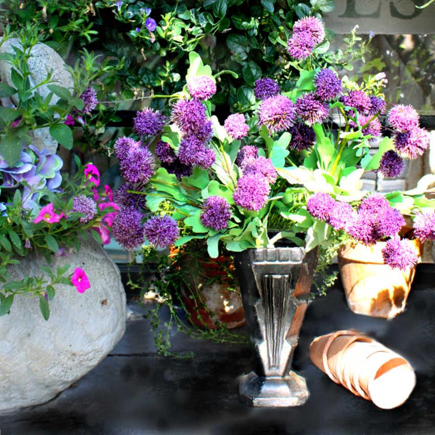 Antique French Cast Iron Art Deco Floral Urn Black