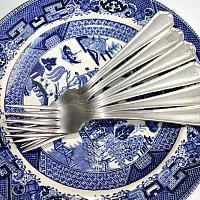 Vintage Hotel del Coronado Silver Forks Set 6