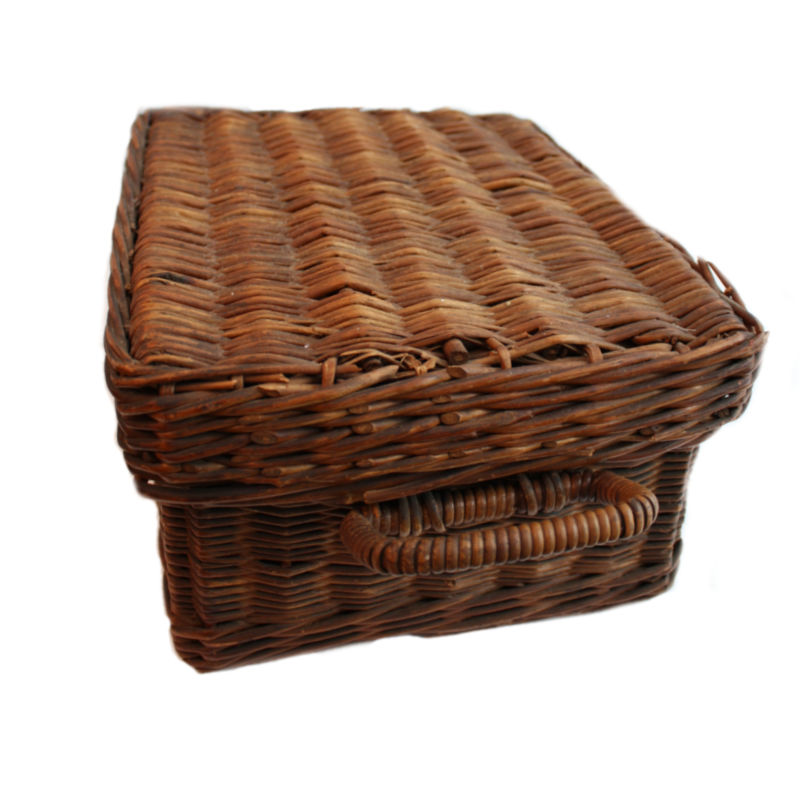 Antique English Car Wicker Picnic Basket