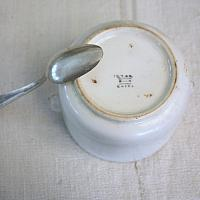 Antique Ironstone Figural Handles Pot