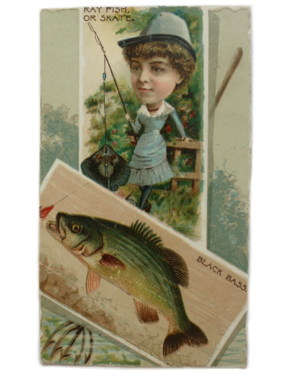 Antique Small Fishing Trade Card
