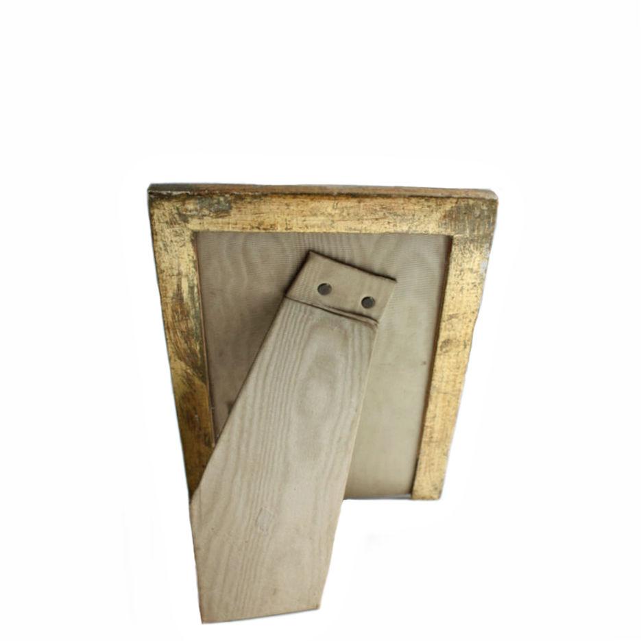 Vintage Italian Florentine Wood Gesso Gilt Sage Photo Frame