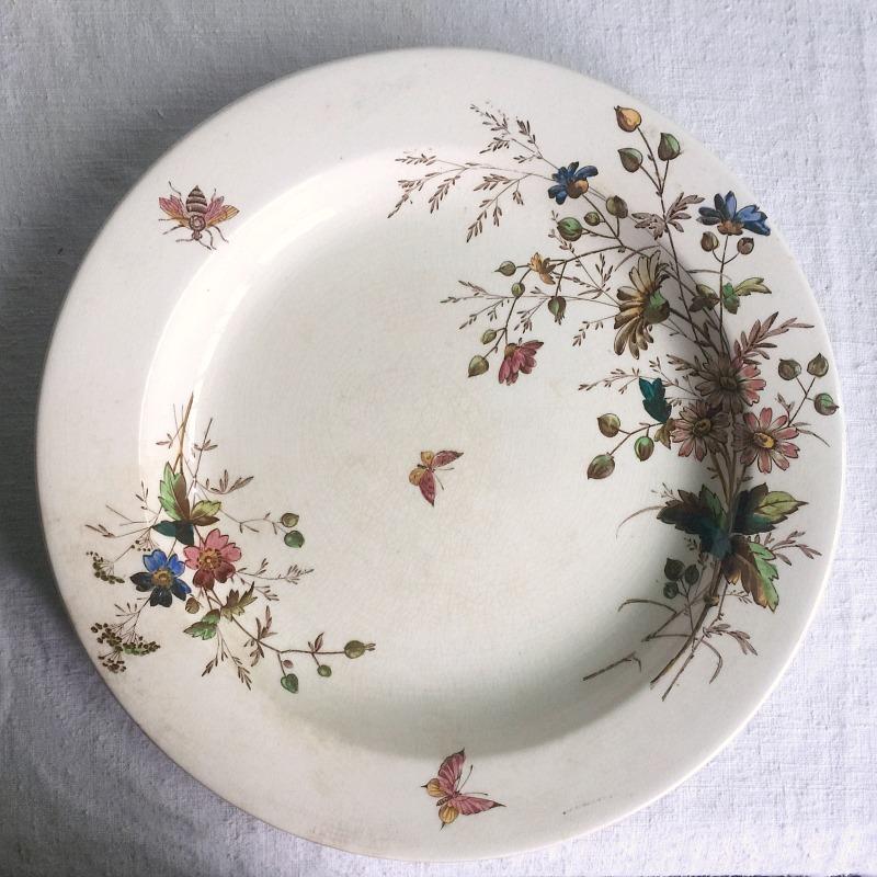 19th Century Floribel Polychrome Ironstone Serving Plate