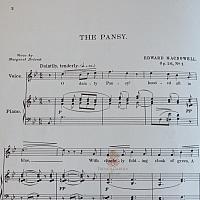 19th Century Sheet Music Book From An Old Garden