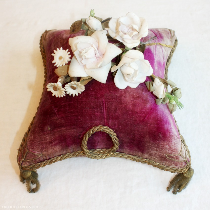 19th Century French Porcelain Floral Rose & Rosebud Bouquets