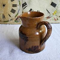 Antique French Country Faience Cream Pitcher