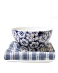 Antique Maastricht Blue & White Blossom Cafe au Lait Bowl