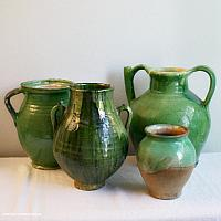 French Green Glazed Terra Cotta Jug or Water Cruche II