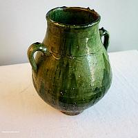 Country French Green Glazed Terra Cotta Pot
