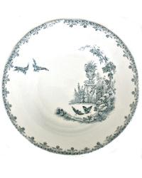 19th Century French Ironstone Bowl Birds