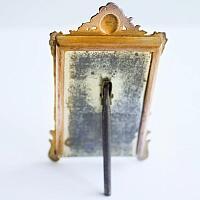 Small Antique French Art Nouveau Bronzed Photo Frame