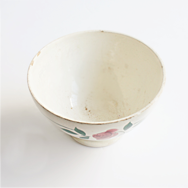Antique French Country Cafe au Lait Bowl Rose