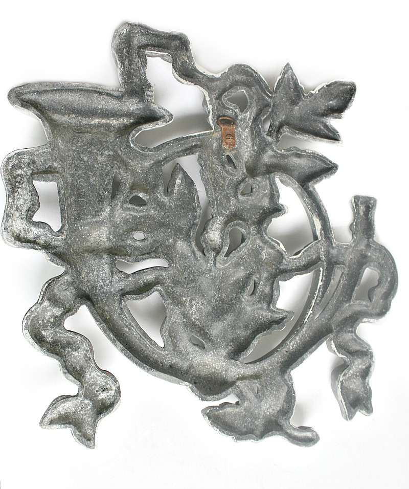 French Country Zinc Musical Instrument Wall Ornamentation