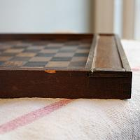Antique Double Sided Hand Painted Game Board