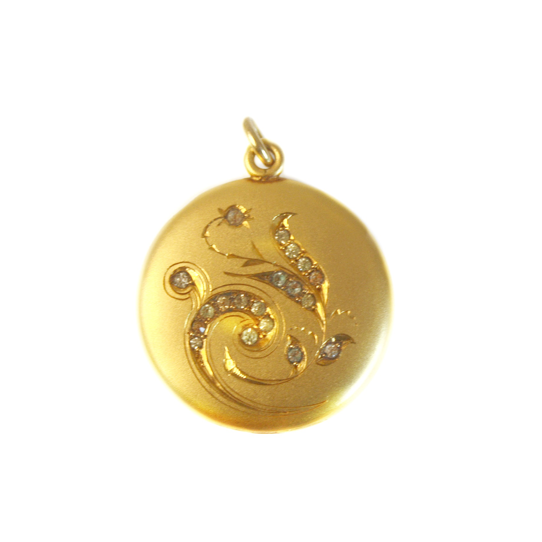 Antique Flower Gold Locket