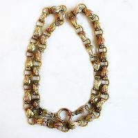 Antique Victorian Gold Filled with Gold Fronts Book Chain Necklace