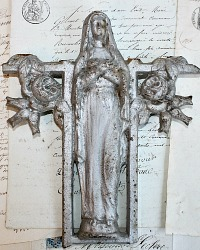 19th Century French Memorial Madonna Mary Fragment