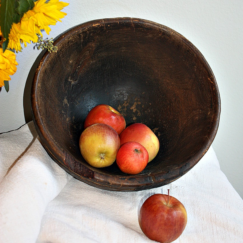 Authentic Hand Carved Berber Wood Bowl