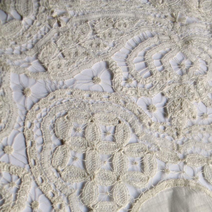 Antique Maltese Silk Bobbin Lace Handkerchief