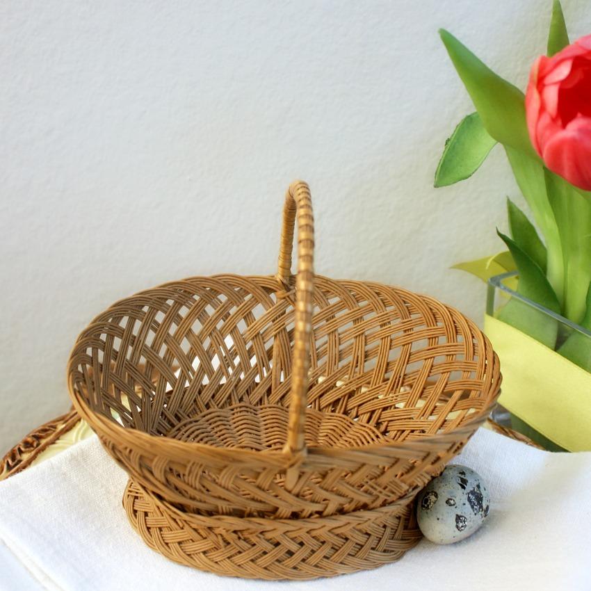 Hand Woven Miniature Market Basket