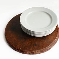Antique Round Wood Serving Board