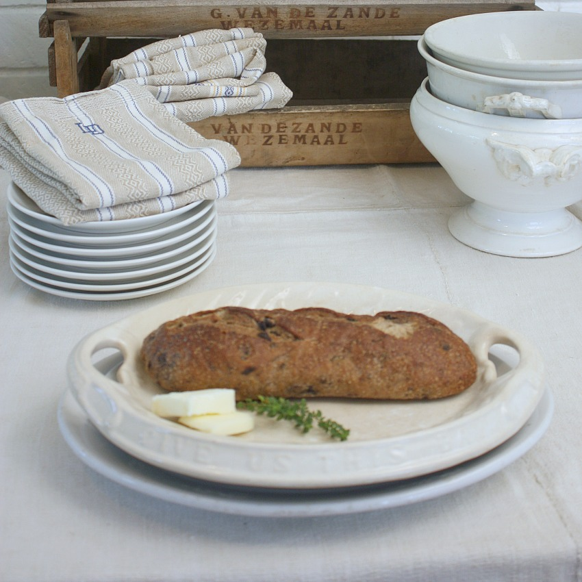 Antique Ironstone Give Us This Day Our Daily Bread Tray