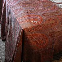 Antique Silk Paisley Blanket Throw Large