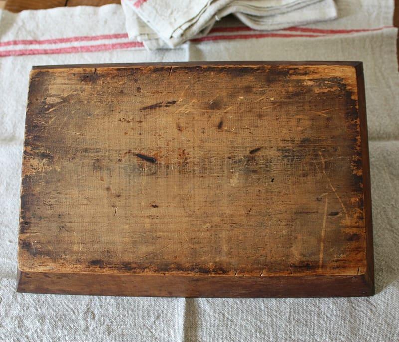 Antique Handmade Wood Silverware Carrier