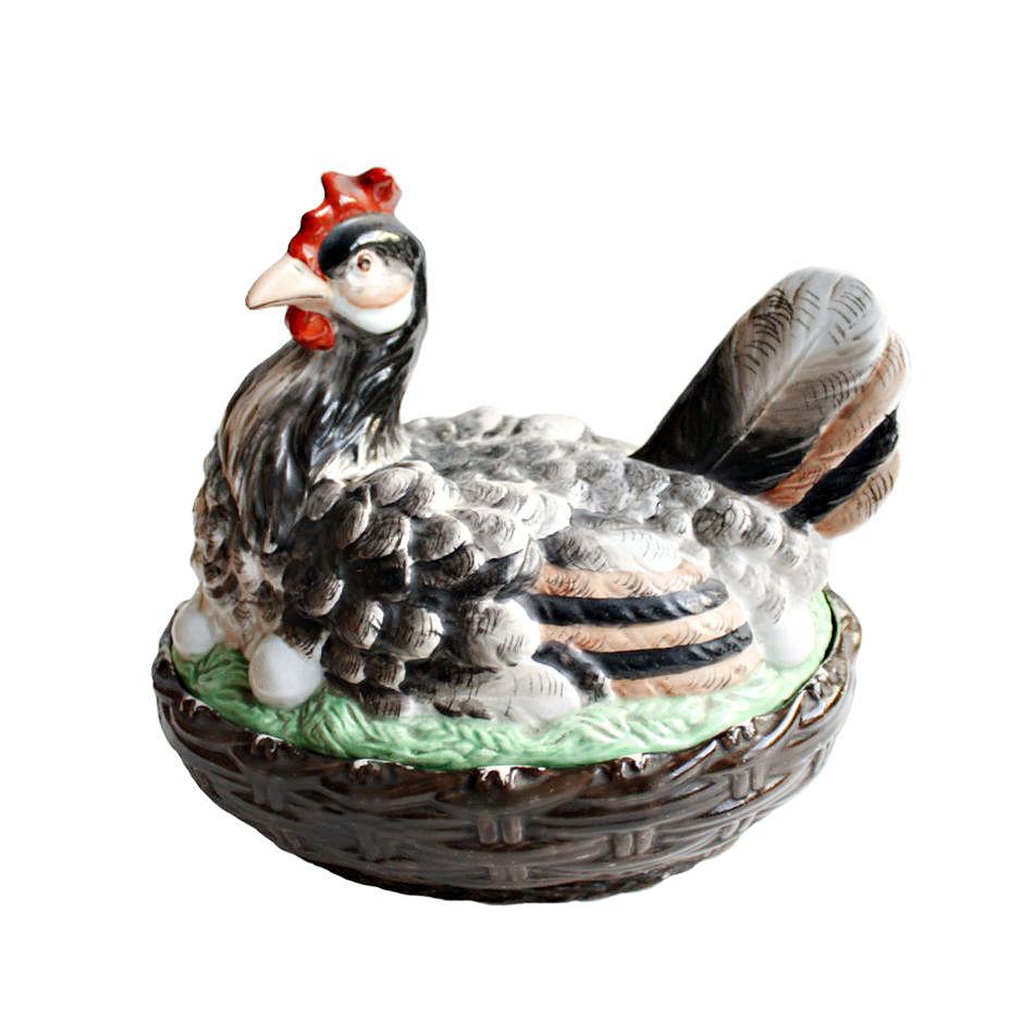19th Century Antique Staffordshire Hen on Nest Tureen