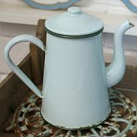 French Mint Green Enamelware Coffee Pot Medium