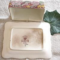 Antique English Transfer Cheese Keeper