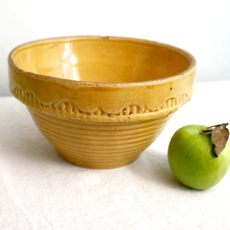 Antique Mustard Yellow Ware Bowl