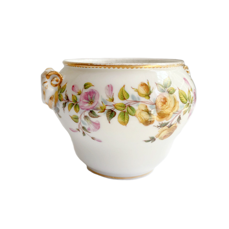 Antique Old Paris Porcelain Cachepot L. Rihouet