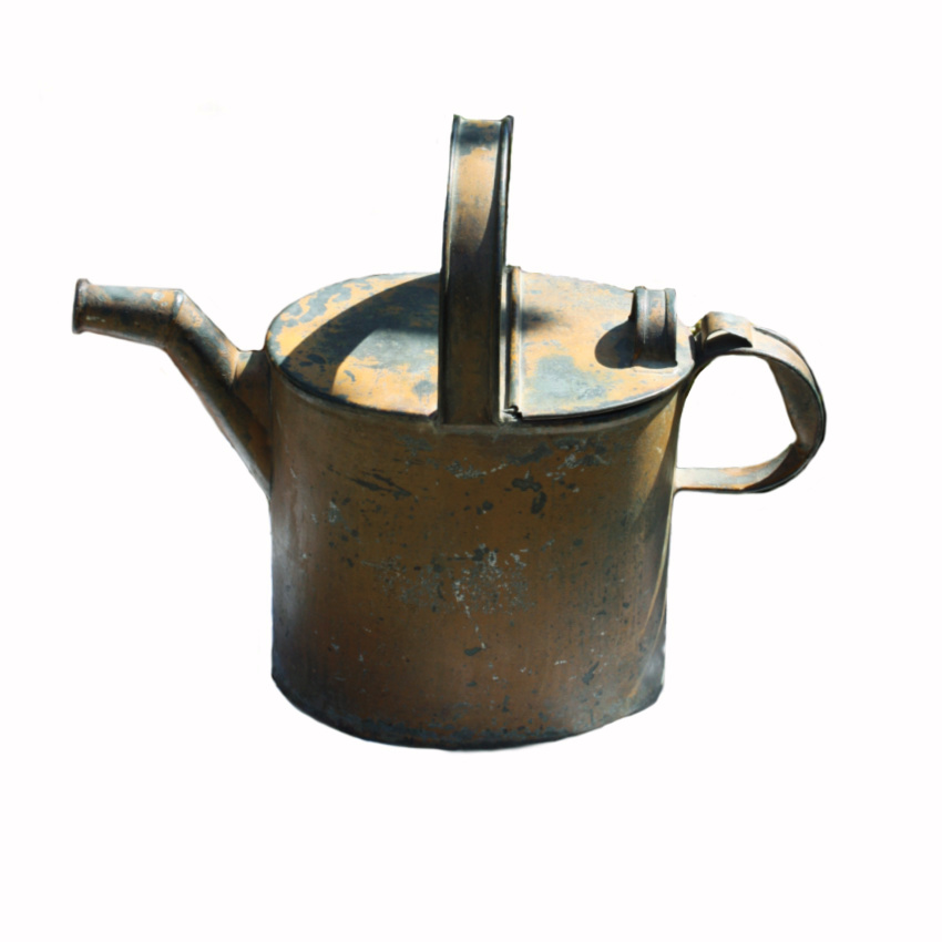 Antique Metal Servant's Hot Water Can Original Paint