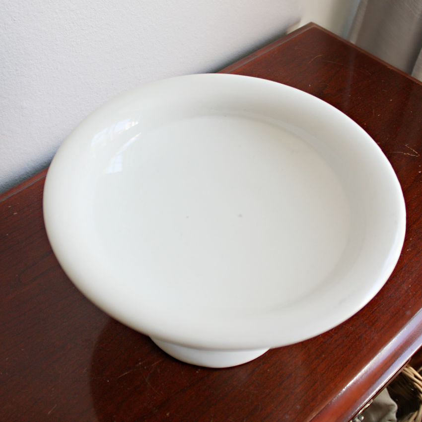 Antique Ironstone Compote Footed Bowl