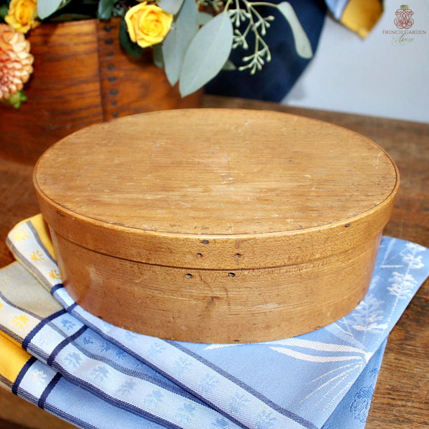 Antique Four Finger Oval Bentwood Shaker Spice Box