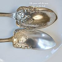 Antique Silver Plate Citrus Spoons Set of 6